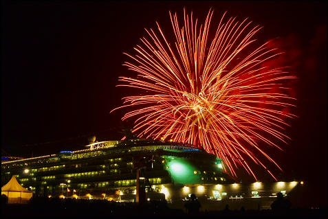 Freedom of the Seas Fireworks