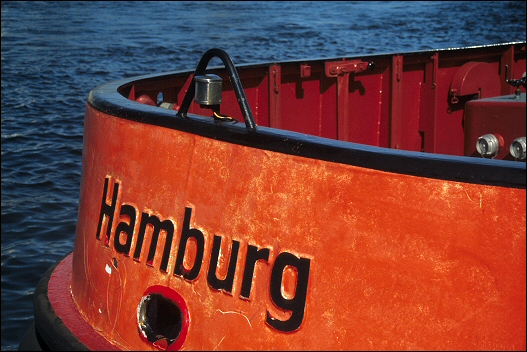 Schlepper Detail im Harburger Binnenhafen - Germany